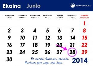 Diseño calendario Junio