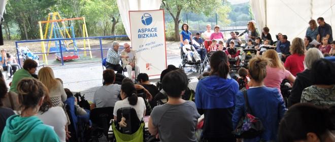 Pilar Ardanza celebra el Día Mundial de la Parálisis Cerebral con Aspace Bizkaia