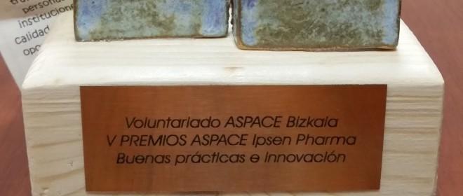 El servicio de voluntariado de Aspace Bizkaia premio Aspace a las Buenas Prácticas