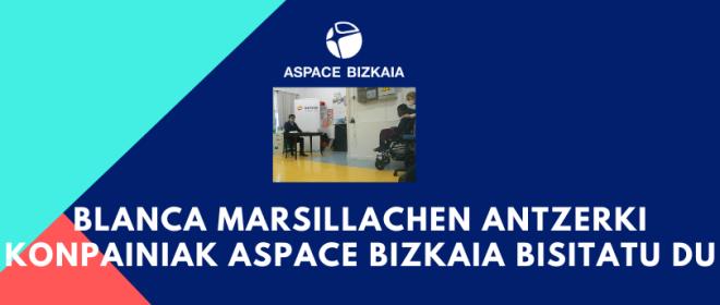 Blanca Marsillachen antzerki konpainiak Aspace Bizkaia bisitatu du