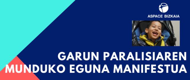 Garun Paralisiaren Munduko Eguna 2020 manifestua