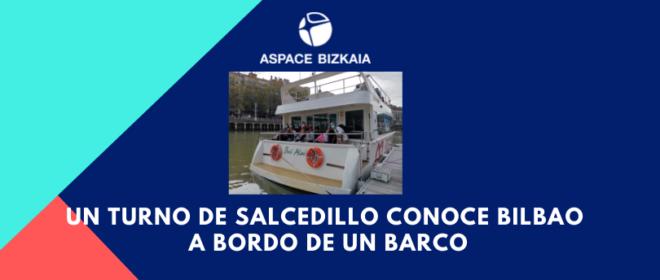 Un turno de salcedillo conoce Bilbao a bordo de un barco